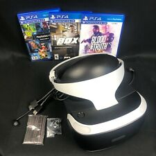 PlayStation VR PS4 Virtual Reality Headset Only PSVR Gen 2 + Games Blood & Truth