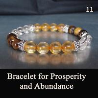 Gemstone Bracelet for Monetary Prosperity & Abundance Chakra Healing Energy Gift