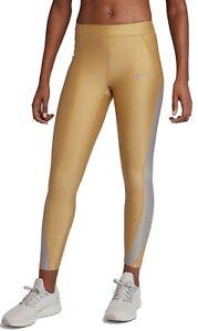 Nike Women's Dri-Fit Speed Metallic 7/8 Tights # Small