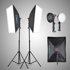 2x LED 5500K Studio Video Light + Softbox + Light Stand For Film Photography