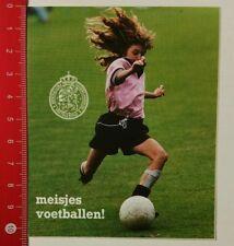 Aufkleber/Sticker: meisjes voetballen - Nederlandsche Voetbalbond (24021735)