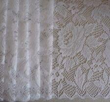 2m w x 2.13m drop Floral Donna Rose Lace Bedroom Lounge WHITE Curtain suit Rod