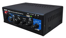 NEW Pyle PTAU23 2 x 40W Stereo Power Amplifier USB/AUX/CD & Mic Inputs