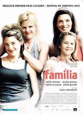 Affiche 120x160cm FAMILIA (2005) Sylvie Moreau, Macha Grenon, Gosselin TBE