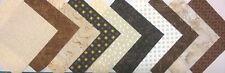 Café et Tissu Couleur Crème Pack restes Patchwork faisceaux 100% coton