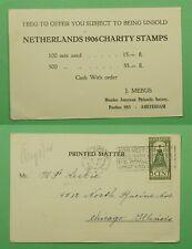 DR WHO 1924 NETHERLANDS POSTCARD AMSTERDAM TO USA C243924