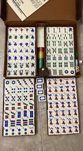 VINTAGE HONG KONG DELICATE HIGH GRADE MAH JONG BAKELITE GAME SET Thick Tiles