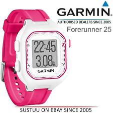 Garmin Forerunner 25 GPS Running Watch│Fitness Activity Tracking│Pink & White