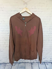 David & Goliath With Love From Russia Mens Brown Sweatshirt Hoodie Size M NWT