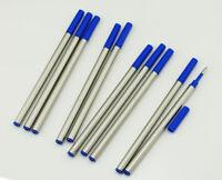 10 PCS Baoer Black Ink Rollerball Pen Refills , Push Type , Fine Point , 110mm