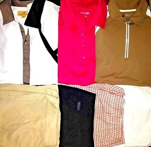 Women's Golf Shirts & Shorts LOT OF 8 Size M/8 Izod Golf Sport/Haley/Liz Golf