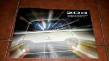 BROCHURE DEPLIANT ADVERTISEMENT PEUGEOT 204 BERLINA BREAK  LUSSO ITALIANO 1972