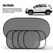 5 Pcs Black Car Window Mesh Cover Windshield Car Rear Side Sunshade Visor Block
