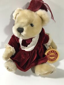 """Brass Button Bears Legendary Collection """"Pearl The Bear Of Wealth"""" Plush W/ Tag"""