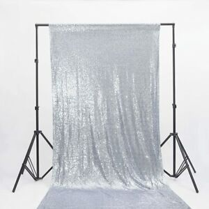 Silver Sequin Backdrop Tablecloth Wedding Party Event 20ft x 10ft AGE UK