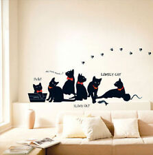 Lovely Cats Wall Stickers Vinyl Mural Art Decal Wall Home Decor