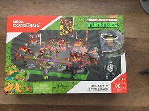 Rarest SEALED Mega Construx Teenage Mutant Ninja Turtles Donatello Battle Pack