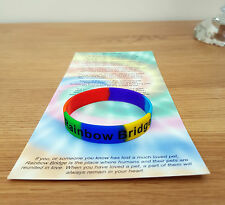 Children's taille Pont Rainbow Bracelet Pet perte/dans la mémoire/chien/chat