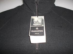 Craghoppers Mens Cason Half Zip Fleece Size XL Black Pepper Colour