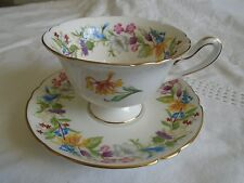 BEAUTIFUL SHELLEY ENGLAND SPRING BOUQUET CUP AND SAUCER.