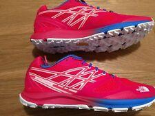 Nuevo Mujeres North Face Ultra cardiaca Trail Zapatos/Zapatillas Rojo/Rosa UK 8.5 EU 41.5