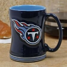 Tennessee Titans Coffee Mug Relief Sculpted Team Color Logo - 14 oz NEW