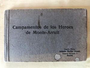 Block 12 Postales Campamentos de los Heroes de Monte Arruit,Ed.España Nueva