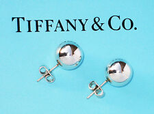 Tiffany & Co Argento Sterling City Hardwear Palla 10MM Perline Rotonde Orecchini
