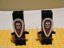 LEGO ~ Chess / Fantasy Era ~ 2 Evil Rooks - Horn / Shield ~ Minifigure Minifig*