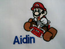 personalized with your childs name  mario brothers  pillow case