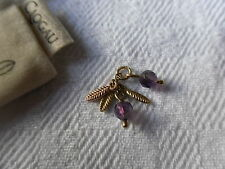 Clogau 9ct Yellow & Rose Gold Inner Charm Amethyst Feather Charm