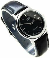 MTP-1095E-1A Black Casio Men's Watches Casio Analog Leather Band