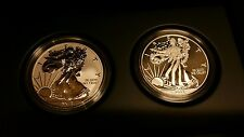 2013 silver ealge 2 coin proof set reverse and inhanced proof