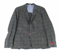 ZNL by Zanella Mens Sport Coat Gray Size 42 Plaid 2-Button Wool $495 #267