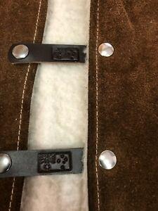 dark brown vest extenders x5 with gunmetal press studs # 70