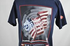 JNCO Jeans T-Shirt Medium Graphic Red White Blue Flag 100% Cotton Made in USA