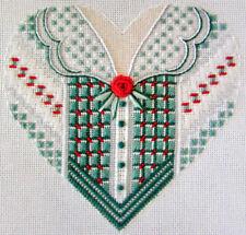 4x Needlepoint Pattern  Xmas Dress & Tuxedo Hears/Emerald Heart/Geometric-HX36