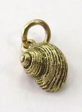 14K Yellow Gold Seashell Snail Charm Pendant ~ 1.1g ~