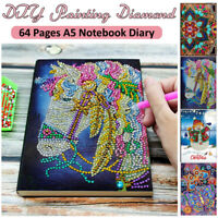 5D DIY Painting Diamond A5 Notebook Diary 64 Pages Embroidery Kits DIY Gift AU