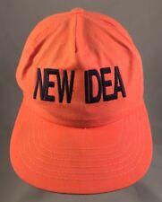 VTG Avco New Idea Farm Equipment SnapBack Adjustable Hat! Neon Orange RARE