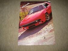 Lamborghini Silhouette Prospekt Brochure Prospetto von 1977, 8 Seiten