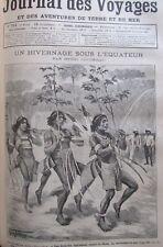 Zeitung der Voyages Nr. 751 von 1891 Explorer in Guyana / Femmes der Tonkin