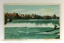 Minneapolis Minnesota St Anthonys Falls Vintage Postcard
