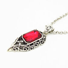 ShadowHunters Lightwood Family Necklace Isabelle Red Crystal Pendant Charm