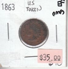 Usa Civil War - Not One Cent - 1863 - Indian Head - Xf Extra Fine