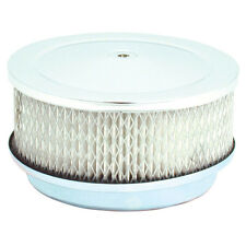 """Air Cleaner Chrome With Filter 6-3/8"""" x 2.5"""" FITS  Carburetors 5-1/8"""" Neck 4780"""