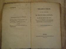 Traduction en vers Français de Trente Odes D'Horace. Du Rouve de Savi.dedicacé