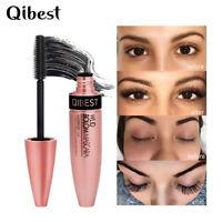 QIBEST 4d Silk Fiber Eyelash Mascara Extension Makeup Waterproof Eye Lashes Kit