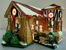 Department 56 Snow Village- Last Stop Gas Station 2 pc #55012 New Retired💖