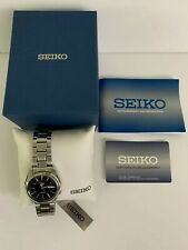 Seiko Men's 5 Automatic Silver Stainless Steel Band Watch Blue Dial SNKL43K1